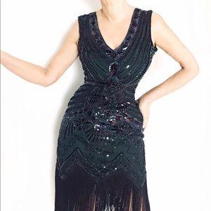 Amazing Heavily Beaded Flapper Dres